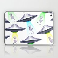 UFO ASTRONAUT KITTEN Laptop & iPad Skin