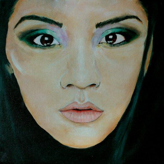 THE EURASIAN GIRL Art Print