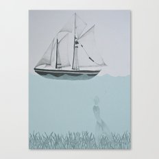 went on a ship of paper Canvas Print