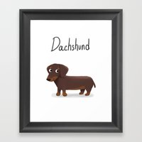 Dachshund - Cute Dog Ser… Framed Art Print
