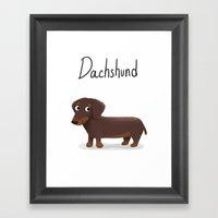 Dachshund - Cute Dog Ser… Framed Art Print