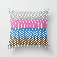 Waveforms Throw Pillow
