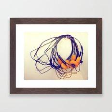 THE MUSICAL BUZZ Framed Art Print