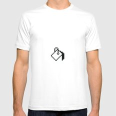 paint White SMALL Mens Fitted Tee