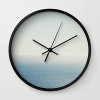 Ocean Horizon Diamonds Wall Clock