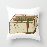 Moab Is My Washpot Throw Pillow