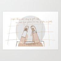 Perfect Things Don't Bri… Art Print