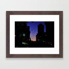 city lights  Framed Art Print