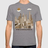 Philadelphia Skyline Vin… Mens Fitted Tee Tri-Grey SMALL