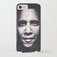 obama iPhone & iPod Cases featuring Barack Obama by Satanoncrack