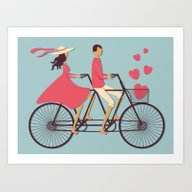 Love Couple Art Print