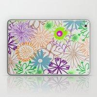 Drawn Flowers Laptop & iPad Skin