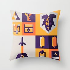 Legend of Zelda Items Throw Pillow