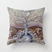 winter in the garden of eden Throw Pillow