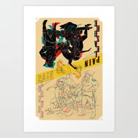 Pleasure And Pain Art Print
