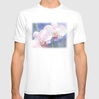 Orchid Gaze Mens Fitted Tee White SMALL