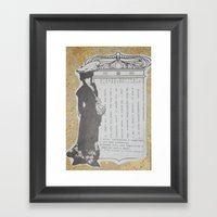 Lady Framed Art Print