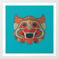 Paper Mask Art Print