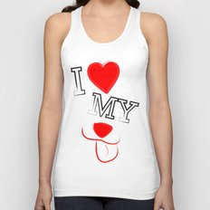 I Love My Dog Unisex Tank Top