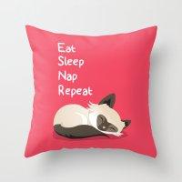 Cat's Life Throw Pillow