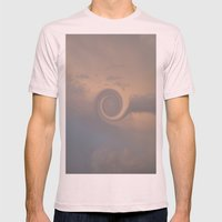 Cloud Swirl Mens Fitted Tee Light Pink SMALL