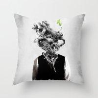Mindgrow Throw Pillow