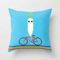 Daikon Bike Throw Pillow