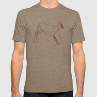 Little Doe Mens Fitted Tee Tri-Coffee SMALL