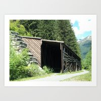 Snow Shed Art Print