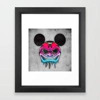 Evil Mickey Framed Art Print