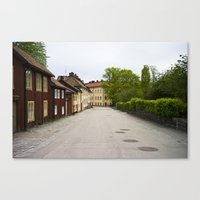 Stockholm, Sweden Old Streets Canvas Print