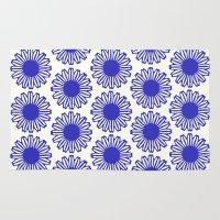 Vintage Flower Blue Rug