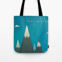 Take breaks. A PSA for stressed creatives. Tote Bag