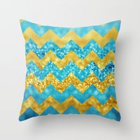 Blueberry Twist Chevron Throw Pillow