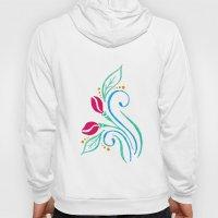 Abstract tulip motif Hoody