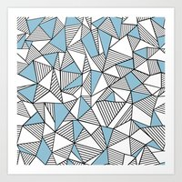Abstraction Lines Sky Bl… Art Print