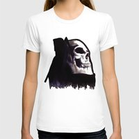 Le Mort Womens Fitted Tee White SMALL