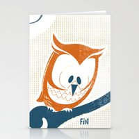 Little Owlet In A Tree Stationery Cards