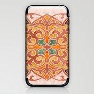 iPhone & iPod Skin featuring Brown Mandala 02 by Aloke Design