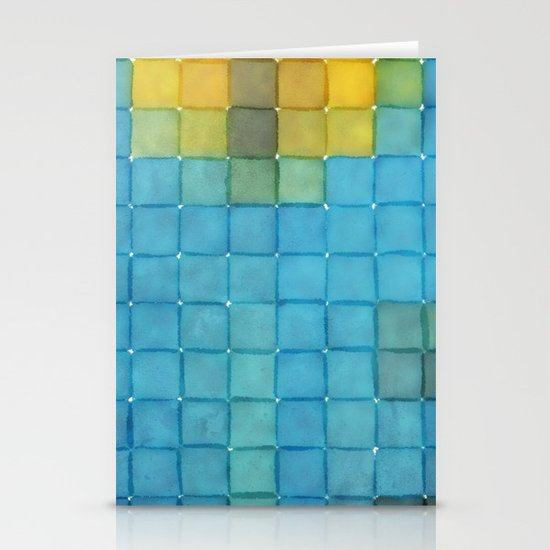 Polaroid Pixels I (Flower) Stationery Card