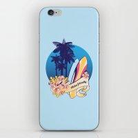 Aloha-friendly surf, summer, beach iPhone & iPod Skin
