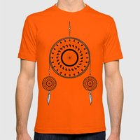 Bohemian Dream-catcher Mens Fitted Tee Orange SMALL