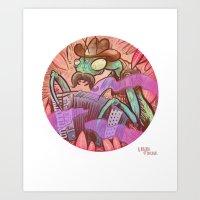 Playing Mantis Art Print