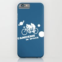Tandems in Space in Blue iPhone 6 Slim Case