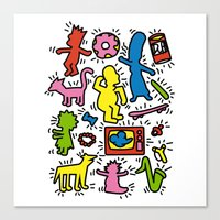 Haring - Simpsons Canvas Print