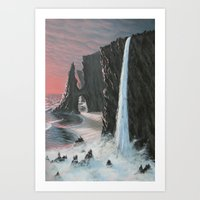 Edge Of The Sea Art Print