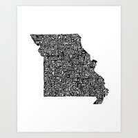 Typographic Missouri Art Print