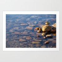 Pebble Stones By The Sea… Art Print