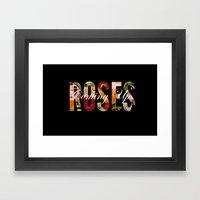 Coming Up Roses Framed Art Print