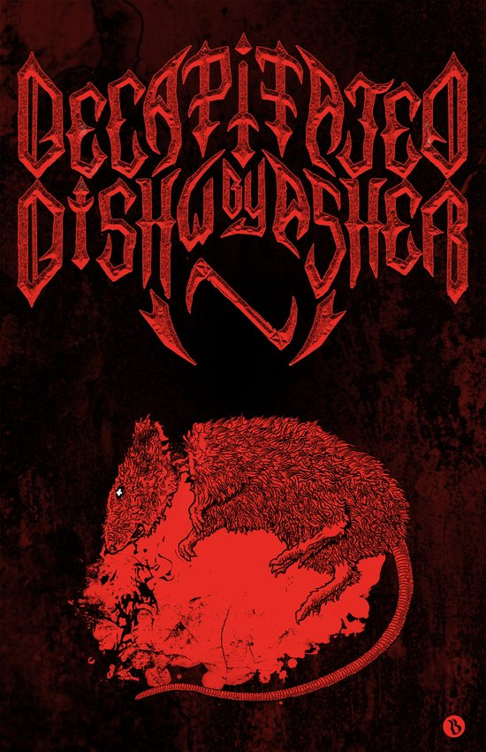 Decapitated by dishwasher III (red) Art Print